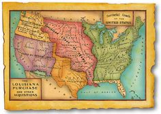 History Resources - Constitutional Rights Foundation Louisiana Map, Louisiana Homes, Louisiana Purchase, Louisiana Kitchen, Louisiana History, Constitutional Rights, Lewis And Clark, Vintage Maps, Kids Online
