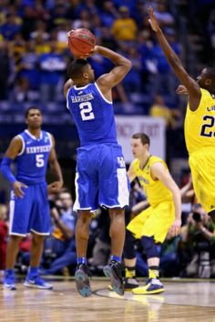 The winning three from Aaron Harrison at the game against michigan.
