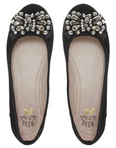 Miss KG Lolita Jewelled Ballet Flat Shoes