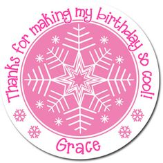 Frozen Inspired Snowflake In Any Color Personalized by partyINK