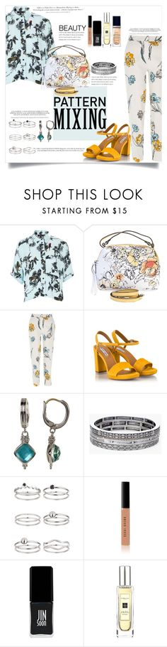"""""""Yellows&Blues"""" by elimarga ❤ liked on Polyvore featuring Topshop, River Island, Fratelli Karida, H&M, Judith Ripka, Chico's, Miss Selfridge, Bobbi Brown Cosmetics, JINsoon and Jo Malone"""