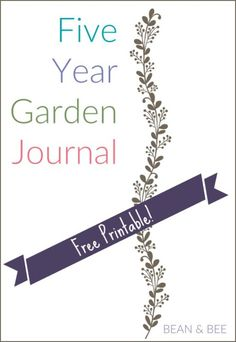 5 year garden Journal Cover image