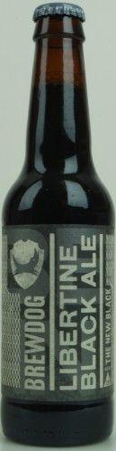 Brew Dog Libertine black ale.  Dit is een Black IPA. Of terwijl een IPA stijlbier die zo zwart ziet als de nacht. Een prachtige stout volgestopt met de veel gebruikte Simcoe hop.