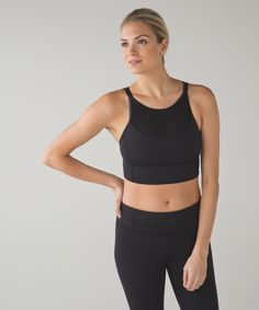Get ready to clip in for a sweaty indoor ride—this long-line bra designed with coverage in mind.