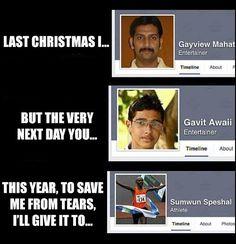 Last Christmas mit Facebook-Namen | Webfail - Fail Bilder und Fail Videos