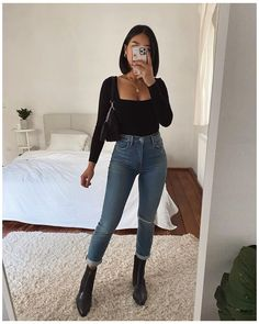 Trendy Fall Outfits, Basic Outfits, Indie Outfits, Casual Winter Outfits, Winter Fashion Outfits, Simple Outfits, Look Fashion, Pretty Outfits, Stylish Outfits