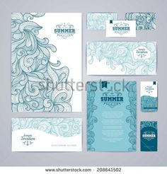 corporate identity design. Ocean summer decorative background