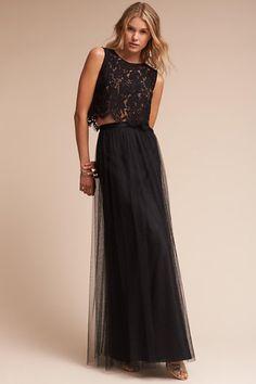 Black Louise Tulle Skirt   BHLDN