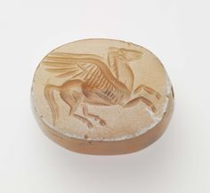 Scaraboid gem with Pegasos Ancient Greek Art, Ancient Romans, Cameo Jewelry, Jewelry Art, Antique Rings, Antique Jewelry, Wax Seal Ring, Roman Jewelry, Classical Period