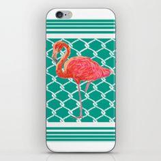 Coastal Style Flamingo iPhone Skin