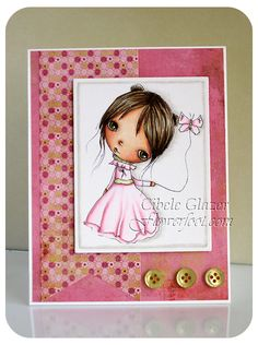 Flower Foot Designs: Butterfly Balloon in Pink #cardmaking #papercrafts