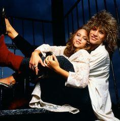 Diane Lane & Jon Bon Jovi, 1985  via Rebecca Blasco