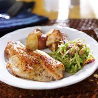 Tilapia with roasted potatoes with cole slaw & broccoli salad