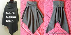 Superbe cape / poncho chic et tendance cousu main, tuto - patron gratuit et explication étape par étape - blog pour débuter en couture