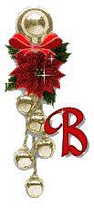 Alfabeto tintineante de cascabeles de Navidad.