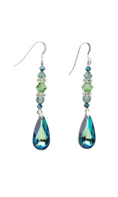Jewelry Design - Earrings with Swarovski Crystal Beads and Rhinestone Rondelles - Fire Mountain Gems and Beads