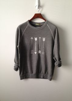 Arrow . Champ Sweatshirt by greythread on Etsy #cute #oversisedsweaters
