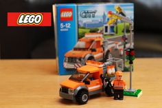 Review Lego City 60054 Light Repair Truck Flash stop motion. Toy