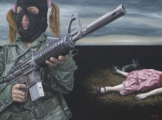 "David Lihard ""Factice"", huile sur toile, 97 x 130 cm, 2010"