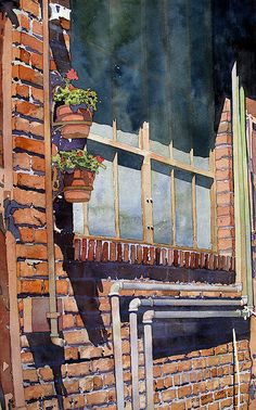 Another KC Crossroads Alley by Don Gore - (house watercolor)