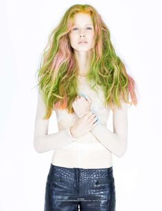 The Ones2Watch Signs Editorial Features Electric-Hued Locks #hair #coloredhair trendhunter.com