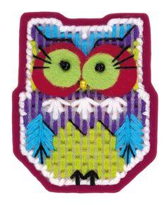 """Needlework kit Magnet Owl    Набор для вышивания крестом «Магнит """"Совушка""""» (1623АС)"""