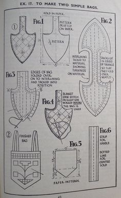 Vintage 30s Sewing Book More Simple Embroidery Marguerite Randell 1930s needlework stitches - patterns for bags / purses