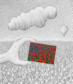 Pencil Vs Camera - 26 by Ben Heine, via Flickr  © Ben Heine www.benheine.com    I wanted to try something different: a photo in a drawing...  just the opposite of what I've done so far in this series...