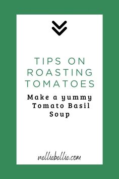 This is one of the easiest, freshest tomato soup recipes you'll find. Almost all of the time required is simply oven or simmering time…totally hands off. Let all those yummy fresh veggies do the work of blending into a delicious roasted tomato basil soup! Fresh Tomato Soup, Roasted Tomato Basil Soup, Tomato Soup Recipes, Easy Soup Recipes, Roasted Tomatoes, Homemade Pesto, Homemade Soup, How To Peel Tomatoes, One Pot Meals