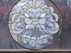 Stained Glass North Wind Panel. $385.00, via Etsy.