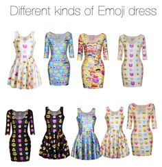 """""""Different kinds of emoji dress"""" by ee2003 ❤ liked on Polyvore"""