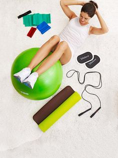 Home gym equipment. Gonna have to get a stability ball one of these days...
