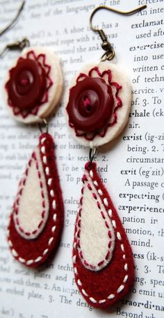 Cranberries and Cream Earrings