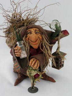 """Old Root Lady"" Sculpted by Jayne Ayre of Kismet Clay Designs www.kismetclaydesigns.blogspot.com"