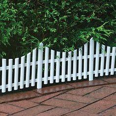 "Emsco White Plastic Picket Fence 24"" x 13"""