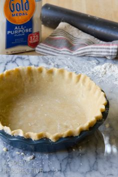 Pie Crust 101: How to Make Pie Crust from Scratch - Amazing Perfect Pie Crust tips! Or just go to the store and pick one up, which is so much more simpler. Pillsbury makes a great tasting one! :)