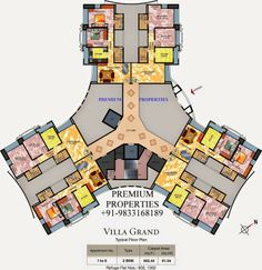 best Ideas for apartment plants architecture layout Social Housing Architecture, Plans Architecture, Residential Architecture, Residential Building Plan, Building Plans, Building Design, Building Concept, The Plan, How To Plan