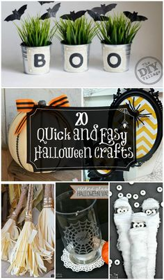 20 Quick and Easy Halloween Crafts - A Collection of simple and SUPER CUTE Halloween Crafts!! { http://lilluna.com }