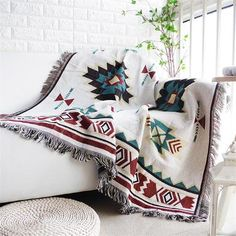 Frugal Mandala Sofa Throw Blanket Boho Knit Chair Sofa Cover Towel Bohemian Carpet Table Cloth Cotton Plaids Bedding Covertapestry Various Styles Home Automation Modules Smart Electronics