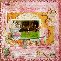 DT project for Bo Bunny with the gorgeous Madeleine collection #bobunny #scrapbooking
