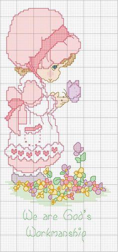 Schema punto croce Bambina-farfallina
