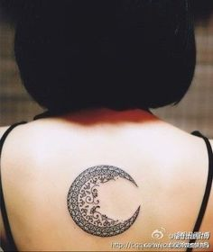 """This is the one I want! With quote: """"she was like moon -- part of her was always hidden away""""....moon tat, again great design (lacy)"""