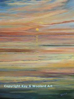 Sielski Sunset 24 x 18 acrylic painting (SOLD)