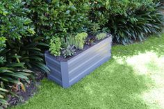 Garden Bed - Slate Grey x x Plastic Garden Edging, Steel Garden Edging, Raised Garden Planters, Raised Garden Beds, Garden Products, Slate, Grey, Gray, Chalk Board
