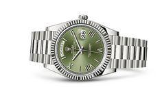 Rolex Day-Date 40 Watch: 18 ct white gold - 228239