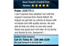 I can't express how satisfied I am with the respect I received from David Gilbert. He...