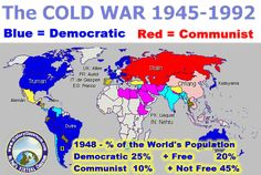 The Cold War Map | for decades the united states and ussr were in the