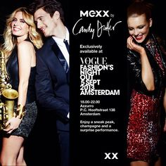 Getting ready for #VFNO? We will be at @azzurroamsterdam for exclusive sneak peak at Mexx by Candy Dulfer collection. @RealCandyDulfer will be there in person to show you the collection and she might bring her sax XX #mexx #mexx #voguefashionsnightout #CandyDulfer @TamaraDamians #vogue #shopping