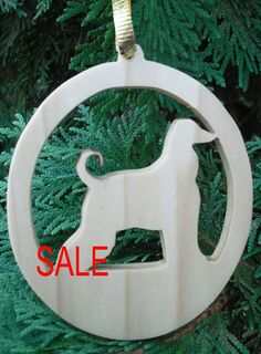 Wooden Afghan Christmas Tree Ornament Christmas by PawPawsWorkshop