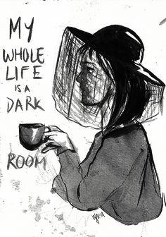 One. Big. Dark Room.